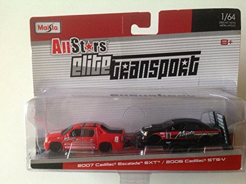 maisto-all-stars-elite-transport-2-pack-2007-cadillac-escalade-ext-2006-cadillac-sts-v-by-maisto
