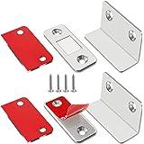 Jiayi Magneetsluiter, 2 stuks, ultradun, L-vormige deurmagneten, zelfklevend, voor meubels, kastmagneten, sterke magneetsluit