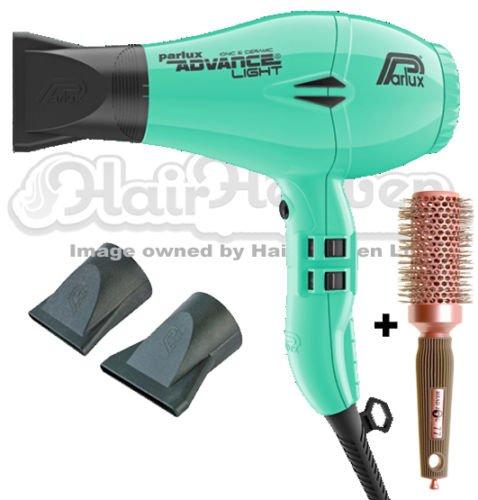 Parlux–Advance Light Ionic–Secador de pelo de cerámica y–color verde menta + libre cepillo