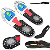 CrazyGadget® Orthotic Arch Support Comfort Foot Massage Gel Heel Cushion Comfort Silicone Sport Running Shoe Trainer Boots Insoles Pad (1 Pair) - Unisex (7 - 10)