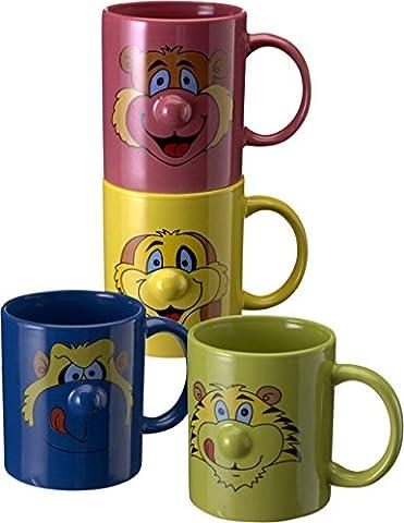 Set mug avec anse enfant kindertasse Animals Mug Céramique 4pièces