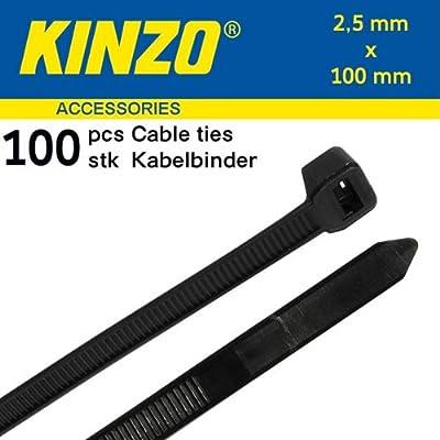 Kabelbinder 100mm x 2,5 mm 100 Stck. Schwarz von Kinzo - Lampenhans.de