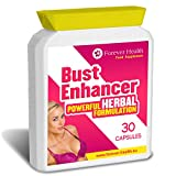 Herbal Bust Enhancer -This Natural Herbal Supplement Will Fill Out Your Boobs WITHOUT The Need For a Boob Job ! HERBAL BUST ENHANCER is a Safe Natural Alternative to Increasing Your Breast Size ! Containing Herbs and Plants like FENUGREEK That Have Been Used for Centuries To increase the Female Hormone OESTROGEN Which Can Lead To Bigger Breasts ! These Fantastic NEW FORMULA Tablets Also Include GINKGO BILOBA and KOREAN GINSENG To Increase Energy And Metabolism - 30 x Boobs Enlargement Pills