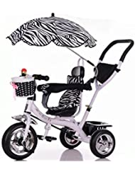 Qiangzi Triciclo de bebé de 3 ruedas modelo nuevo Triciclo Baby Carriage Bicicleta de juguete infantil Trolley Bicicleta de rueda inflable 3 ruedas, asiento giratorio (Niño / Niña, 1-3-5 años de edad) El mejor regalo para los niños