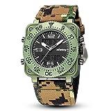 Infantry Herren Analog-Digital Uhr Chronograph Kalender Stoppuhr Outdoor Alarm Beleuchtung