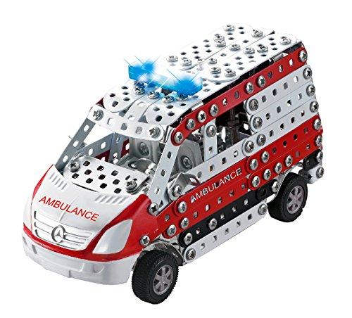Tronico 10043 - Metallbaukasten Krankenwagen Mercedes Benz Sprinter mit Licht und Sound, M Preisvergleich