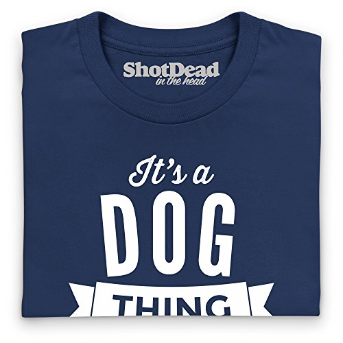 It's a Dog Thing Langarmshirt, Herren Dunkelblau