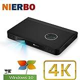 Mini Beamer 4K, NIERBO Multimedia Heimkino Video Projektor, LED Beamer Full HD 1080P, 10000mAh...