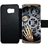 For S6 Edge Samsung Apparent For Women Card Slot Print With Clock Wheel
