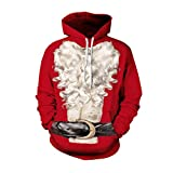 Jiayiqi Männer Frauen Cosplay Weihnachtsmann Pullover Hoodie Kapuzen Sweatshirts In Rot L
