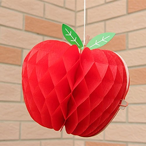 SUNBEAUTY 10 camere arredate ape a forma di nido frutta e verdura festa ornamento di compleanno per la decorazione della casa sala delle feste camera da letto (mela)