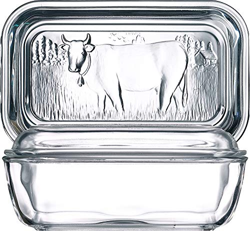 Luminarc 73115 Helper Butterdose, 10,5x17cm, Glas, transparent, 1 Stück