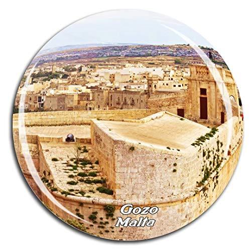 Weekino Die Zitadelle Gozo Malta Kühlschrankmagnet 3D Kristallglas Tourist City Travel Souvenir Sammlung Geschenk Starke Kühlschrank Aufkleber