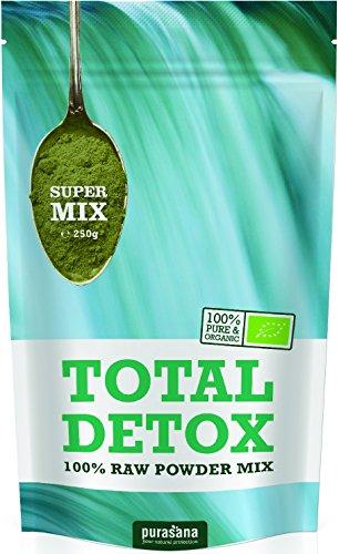 Purasana Total Grüne Bio Mischung 250g mit Spirulina, Chlorella, Gerstengras, Weizengras, Rohkakao, Lucuma