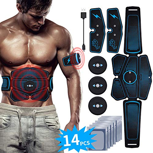 EMS Bauchmuskeltrainer USB Wiederaufladbar EMS Trainingsgerät für Arm Bauch Beine...