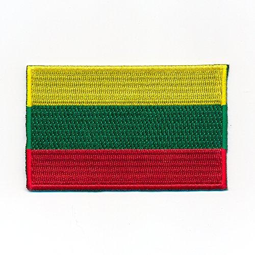 30 x 20 mm Litauen Flagge Europa Flag Vilnius Patch Aufnäher Aufbügler 1059 Mini