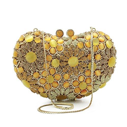 Frauenabendbeutel Der Europäischen Und Amerikanischen Luxus-Handtasche Yellow