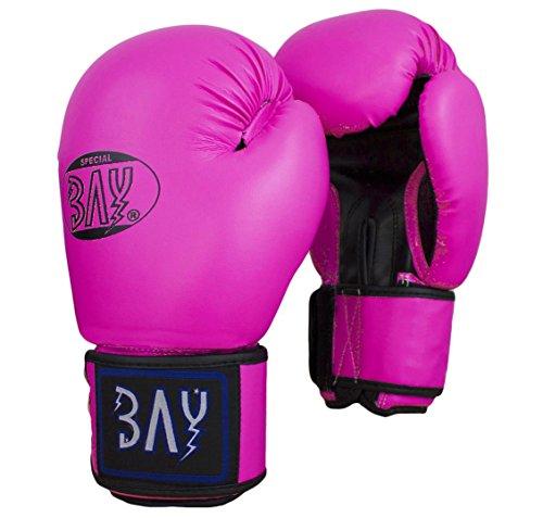 "BAY® ""Future"" MINI Boxhandschuhe 6 Unzen rosa pink Box-Handschuhe, schwarz, Leder-PU, UZ OZ, small Hand Miniboxhandschuhe Kinderboxhandschuhe"