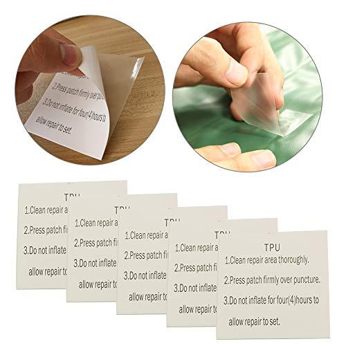LYXMY 10 Stück Tenacious Tape, Clean Flex wasserdichte Patch für Vinyl und  Stoff Rettungsring Zelt-Reparatur Outdoor Gear Paste