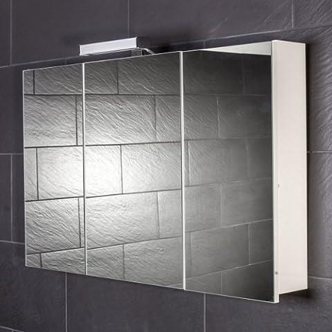 Galdem START100 Spiegelschrank, holz, 100 x 70 x 15 cm,
