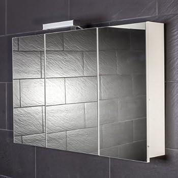 Galdem START100 Spiegelschrank, Holz, 100 X 70 X 15 Cm, Weiß