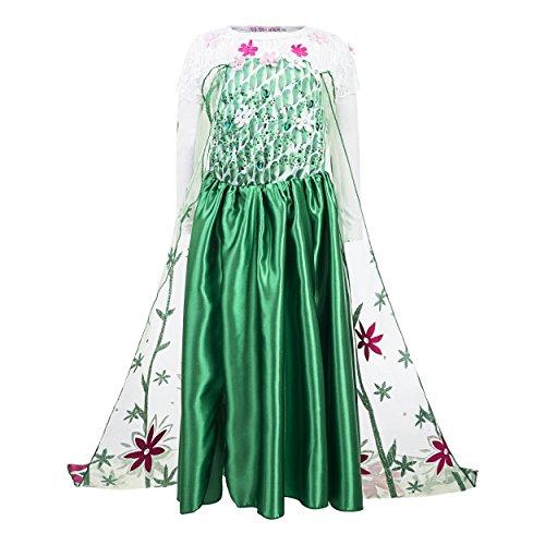 Vestido verde da frozen