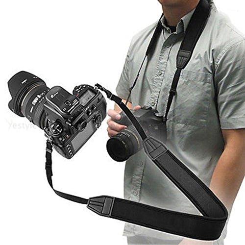 Fuhaoo schwarz verstellbare Neopren Riemen Schulter Gürtel für Canon Nikon DSLR-Kamera -