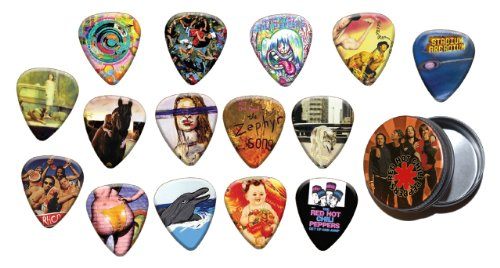red-hot-chili-peppers-15-x-guitar-mdiators-picks-with-tin-gold-range-plectrums-