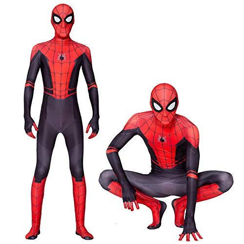 Nach Maß Tanz Kostüm - KOUYNHK Neue Spider Man Weit Von Zuhause Cosplay Kostüm Zentai Spiderman Superheld Body Spandex Anzug Für Erwachsene/Kinder Nach Maß,Adult-XXL