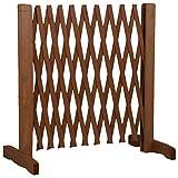 MaxxPro Hundezaun aus Holz | ausziehbare Breite 30-140 cm | freistehendes Absperrgitter für Hunde