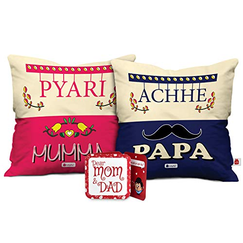 Indigifts for Mom Dad for Mom | Birthday Gift for Father | Cushion 12