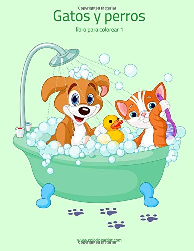 Gatos y perros libro para colorear 1: Volume 1 por Nick Snels