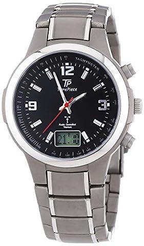 Time Piece Herren-Armbanduhr Funk Analog - Digital Quarz Titan TPGT-10278-21M