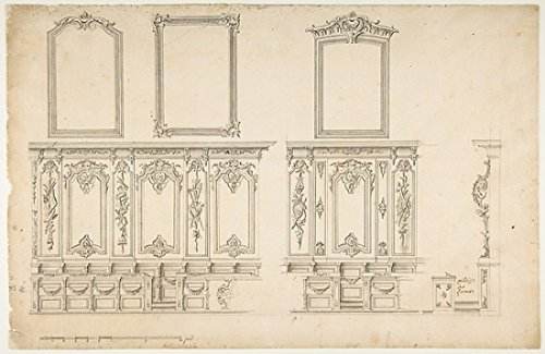 The Poster Corp Anonymous - Design for Choir Stalls Kunstdruck (45,72 x 60,96 cm) - Choir Stall