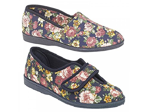 Sleepers, Pantofole donna Blu (Navy Floral)