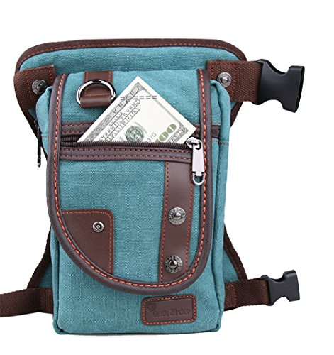 Genda 2Archer Deporte al aire libre de la lona Multi-bolsillo de la pierna bolsa de (azul)