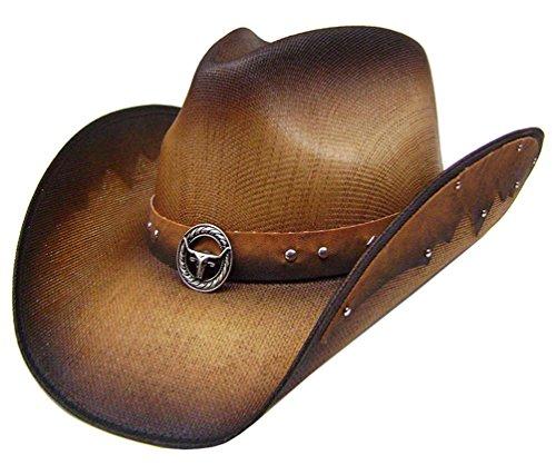modestone-straw-cowboy-hat-metal-longhorn-bull-head-concho-studs-hatband-m