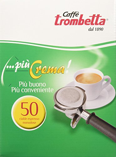 Caffè trombetta cialda più crema - confezione da 50 cialde