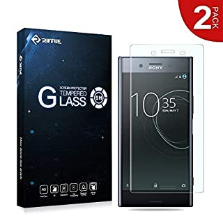 Sony Xperia XZ Premium Screen Protector, RIFFUE Premium Crystal Tempered Glass Bubble Free Anti Scratch Protective Film HD Clear Screen Protector[2 Packs]