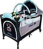 Kinderreisebett Tragbar und Klappbar Reisebett - ARTI DeLuxe-Plus Go - Navy hellblau Auto