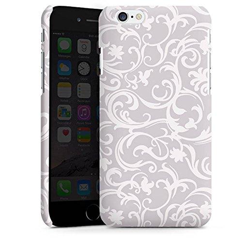 Apple iPhone X Silikon Hülle Case Schutzhülle Blumen Grau Abstrakt Premium Case matt