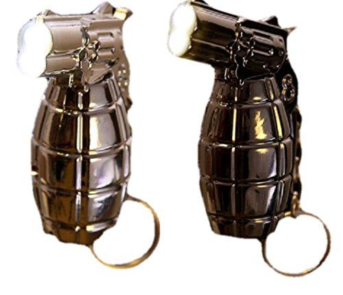 Preisvergleich Produktbild Leistungsstarke Twin Light Led Taschenlampe Schlüsselanhänger Neuheit Twin LED Taschenlampe Schlüsselanhänger mit Trigger Schalter