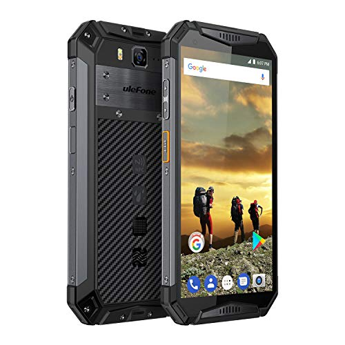 "Ulefone Armor 3 Outdoor Smarphone ohne Vertrag (5.7"" 18:9 Full HD+ Display mit dem Corning Gorilla 5 Schutzglas, 4GB RAM + 64GB ROM, Dual-SIM(Nano), 10300mAh Akku, IP68/IP69K, Android 8.1) Schwarz"