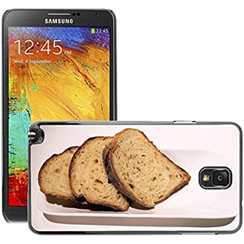 Etui Housse Coque de Protection Cover Rigide pour // M00153042 Pan de grano entero en rodajas Textura // Samsung Galaxy Note 3 III N9000 N9002 N9005