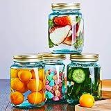 Lebensmittelvorratsbehälterset, 4-teiliger Süßigkeitenvorratsbehälter - Für Trockene Lebensmittel Und Flüssigkeiten - Kein BPA - Transparenter Konservenbehälter Mit Deckel