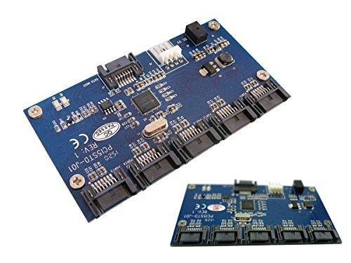 SATA Port Multiplier,, 1x SATA auf 5x SATA, JMB-Chipsatz)