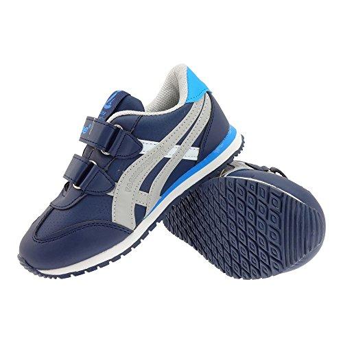 GALLUX - Mädchen Jungen Kinder Sneaker Sportschuhe leichte bunte Freizeitschuhe Dunkelblau-Grau