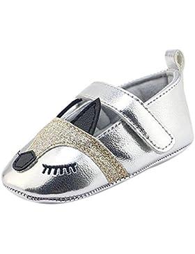 Hankyky Baby Kind Mädchen Junge Anti Skid Weiche Sohle Lauflernschuhe Sneaker Krippeschuhe Kleinkind Schuhe Leder...