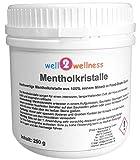 well2wellness Mentholkristalle intensiv in einer 250g Dose - aus 100% reinem Minzöl gewonnen