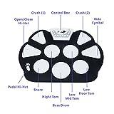 VTOP-Kit-De-Pad-De-Batera-Electrnica-Roll-up-Silicona-Porttil-Plegable-Con-Palanca-Y-Pedal-De-Pie